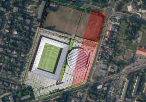 Sporne tereny zaznaczone na czerwono