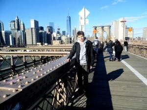 Maciek Bałenkowski w Nowym Jorku
