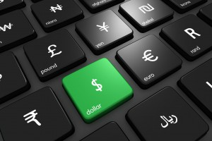 Online currency dollar focus