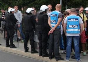 policja mecz