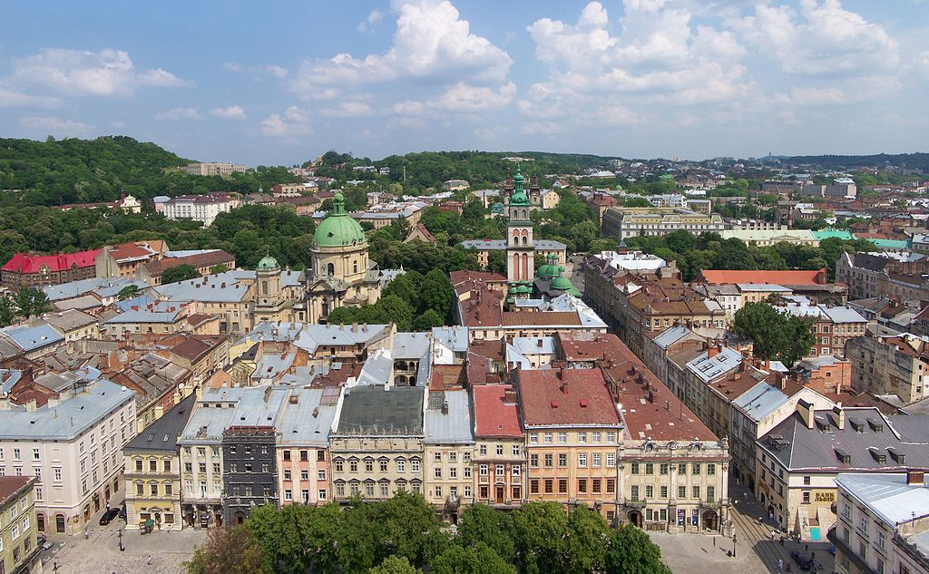 Lwów - widok z wieży ratuszowej (fot. Wikipedia)