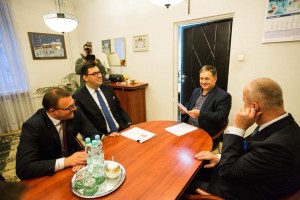 Prezydent z zastępcami pojechał na spotkanie do przewodniczącego