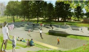 Czy park na Oboozisku powstanie w tym kształcie? Wizualizacja (UM Radom)
