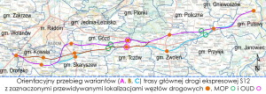 Mapa, GDDKiA Warszawa