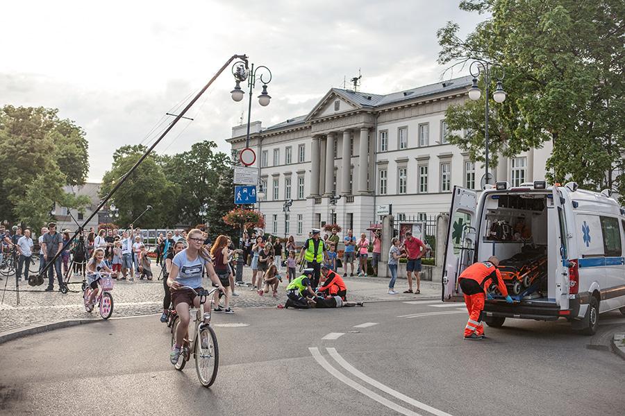 Podczas festiwalu filmowców mozna spotkać na ulicach Radomia (fot. Ewa Jasińska)
