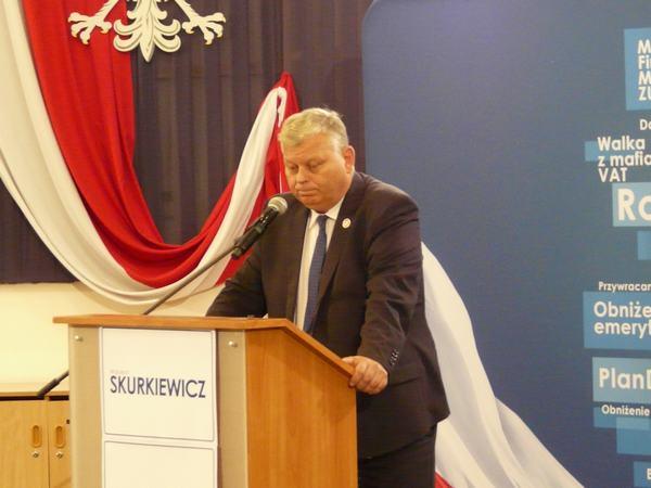 Marek Suski na wczorajszej konwencji PiS