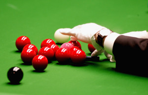 SHEFFIELD, UNITED KINGDOM - MAY 01:  A general view of snooker balls during the 888.com World Championship at the Crucible Theatre on May 1, 2007 in Sheffield, England.  (Photo by Jamie McDonald/Getty Images)