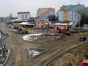 Rondo powstało u zbiegu Żeromskiego i Szklanej (fot. MZDiK)