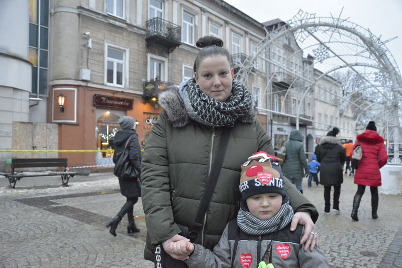 Filipek z mamą Natalią