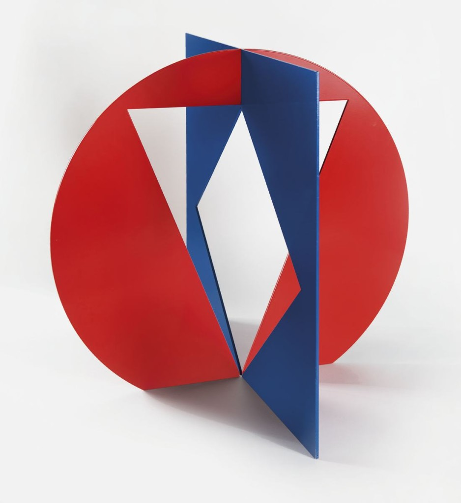 Ingo Glass, Paarung zweiter positiver + negativer, 2010, aluminium, lakier, 60 x 65 x 65 cm