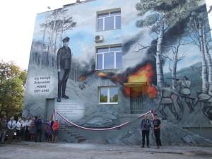 """Na ścianie szkoły powstał mural poświęcony """"Hubalowi"""""""