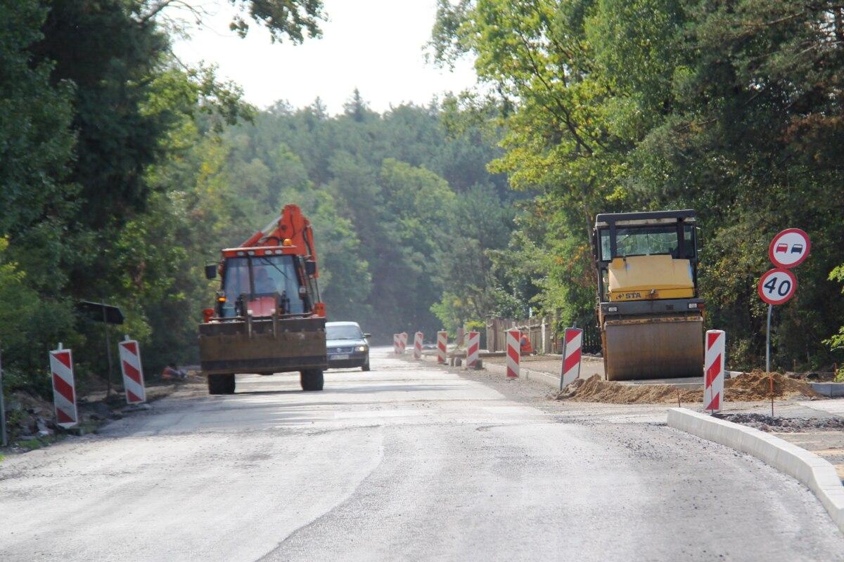 droga powiatowa 3539W w Zenonowie