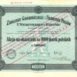 Akcja Zakładów Garbarskich F. Wickenhagena(1)