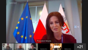 O pomocy dla radomskich przedsiebiorców mówiła podczas sesji online wiceprezydent Katarzyna Kalinowska