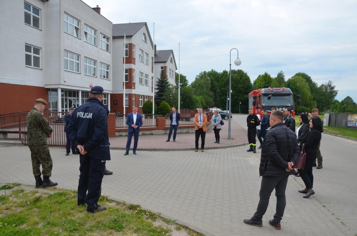 W Skaryszewie odbyła się wizja lokalna w miejscu planowanego postoju wymazobusa